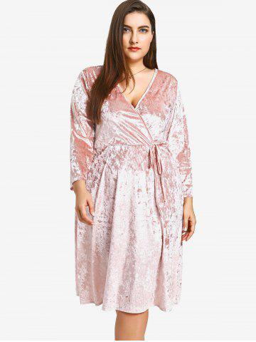 Outfit Crushed Velvet Plus Size Dress