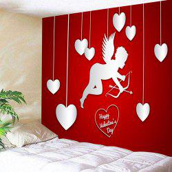 Valentine's Day Cupid Hearts Print Wall Tapestry -