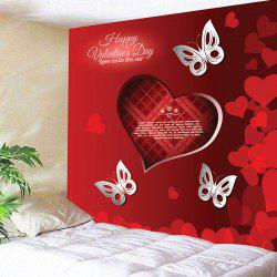 Valentine's Day Butterflies Love Hearts Wall Tapestry -