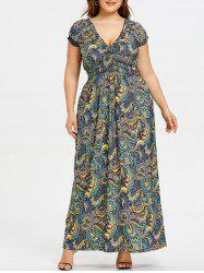 Plus Size Empire Waist Smocked Dress -