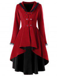 High Low Lace Trimmed Gothic Coat -