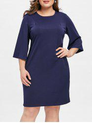 Knee Length Plus Size Tunic Dress -