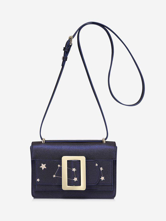 Outfits Buckled Embroidery Stars Crossbody Bag