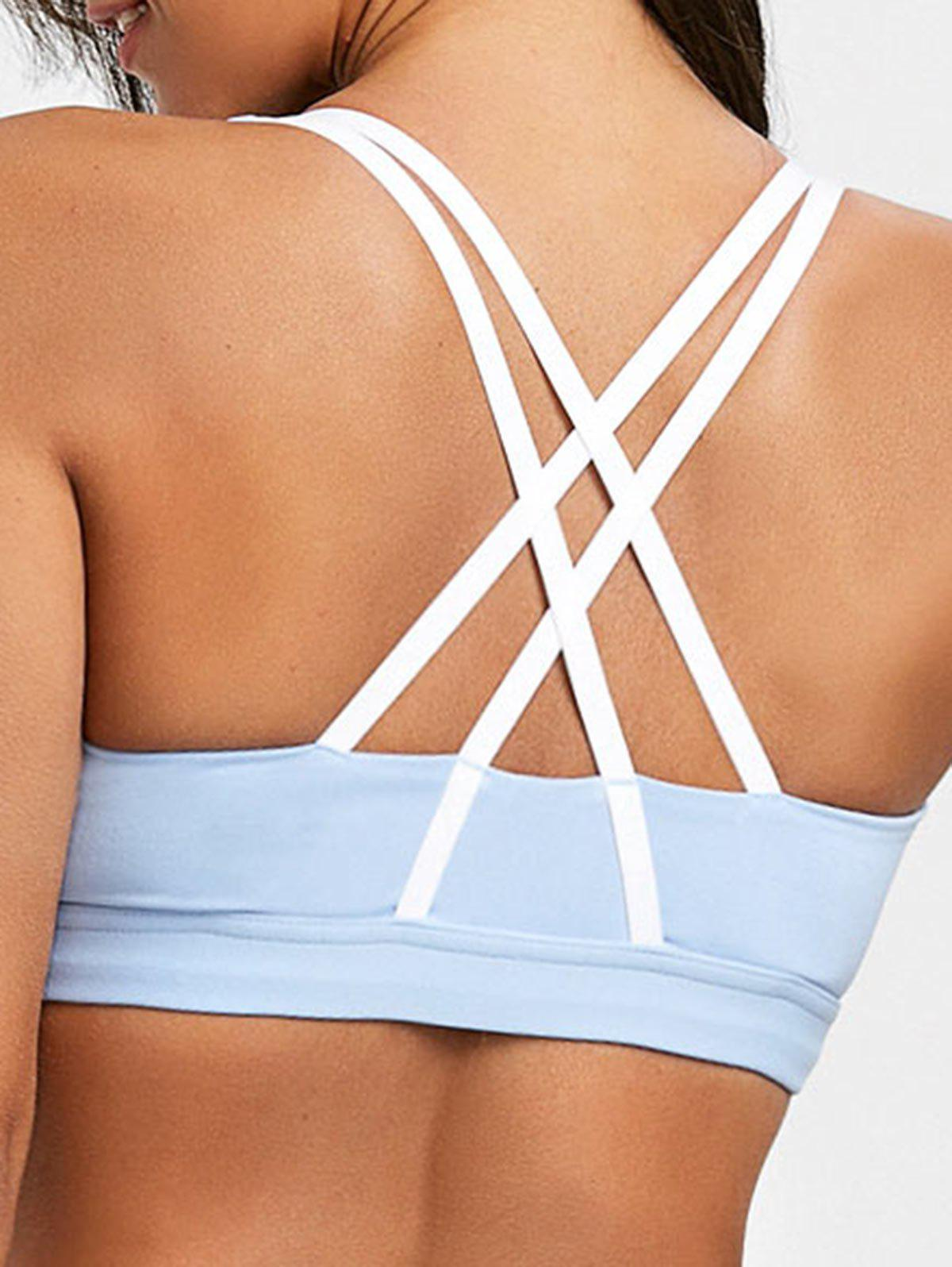 Unique Padded Strappy Pull On Sports Bra