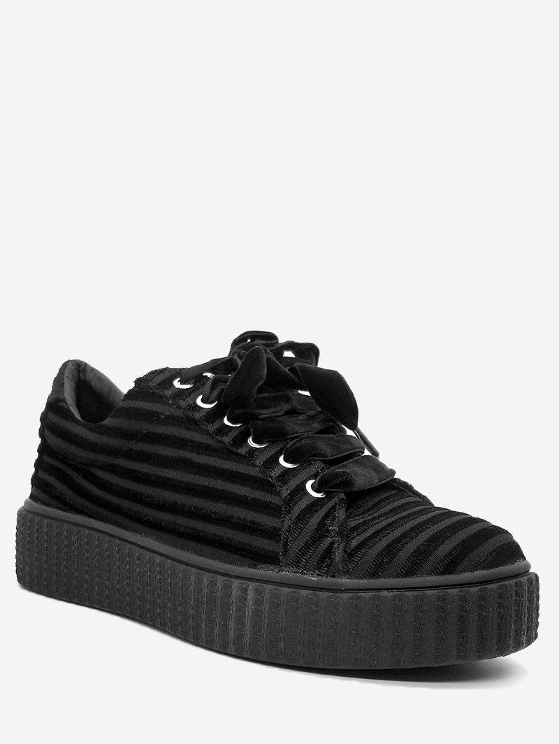 Online Tie Up Faux Suede Sneakers