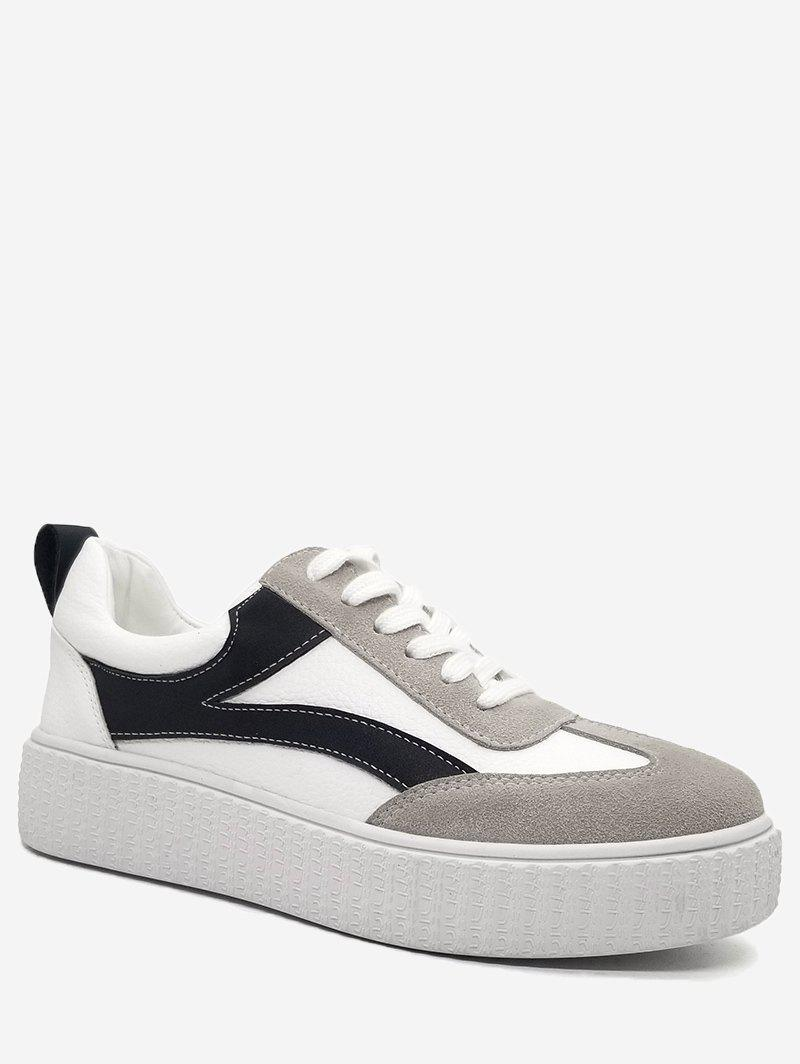Affordable Stitching Contrasting Color Sneakers
