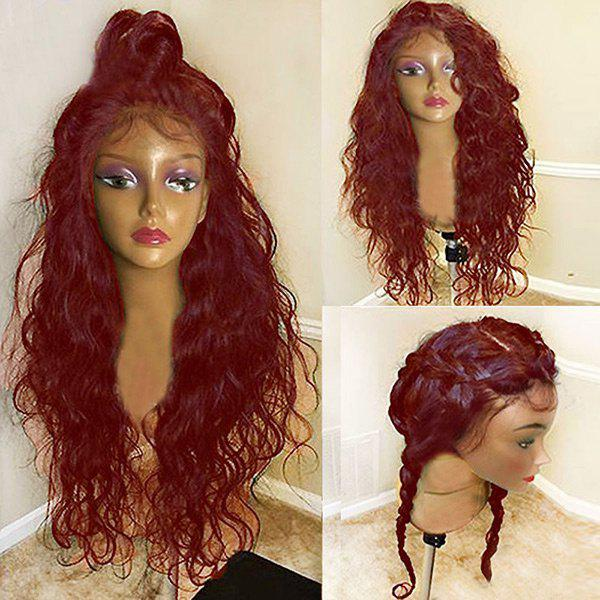 Best Long Free Part Fluffy Natural Wavy Lace Front Synthetic Wig