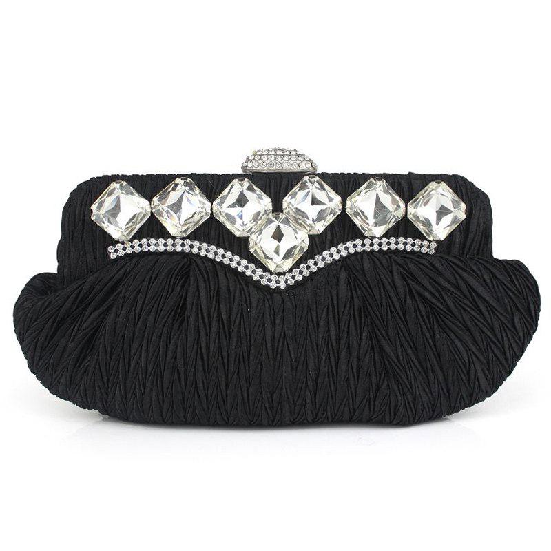 Latest Rhinestone Evening Bag with Chain