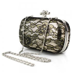 Flower Lace Evening Bag with Chain -