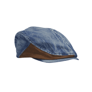 Retro Adjustable Washed Denim Newsboy Hat -