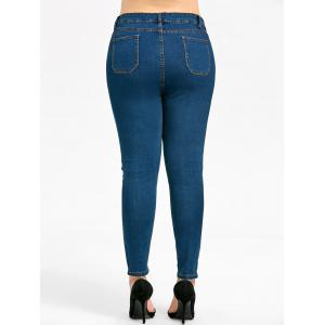 Plus Size Basic Slim Fit Jeans -