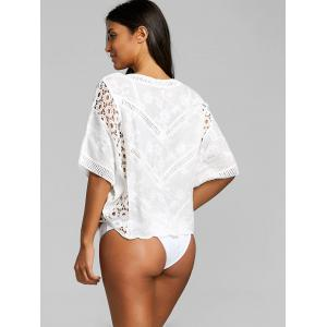 Crochet Insert Batwing Sleeve Cover Up -
