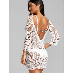 Low Back Crochet Lace Cover Up Top -
