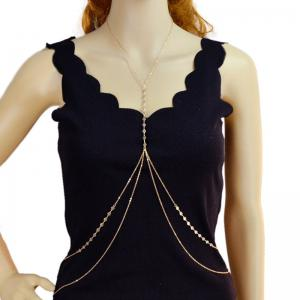 Metal Layered Fringed Body Chain -