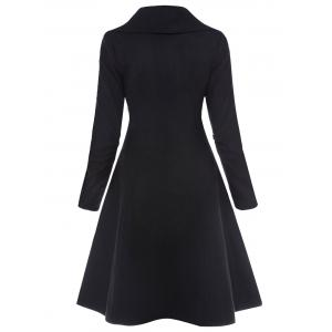 Single Breasted Skirted Coat -
