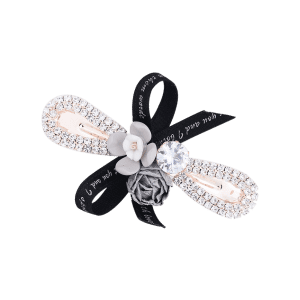 Vintage Bowknot and Floral Embellished Hair Clip -