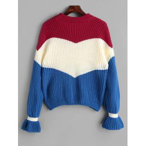Contrast Chunky Knit Sweater -