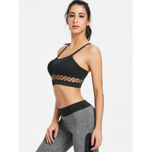 Caged Cutout Yoga Bra Top -