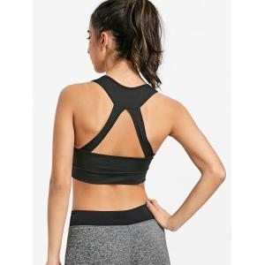 Sports Pad Zip Front Bra -