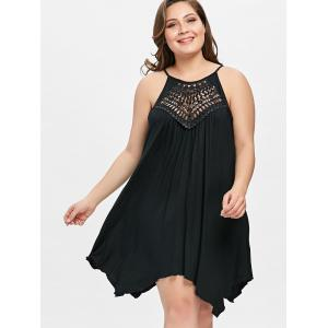 Plus Size Cutwork Trapeze Cami Dress -