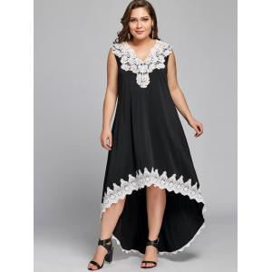 Plus Size Sleeveless High Low Dress -