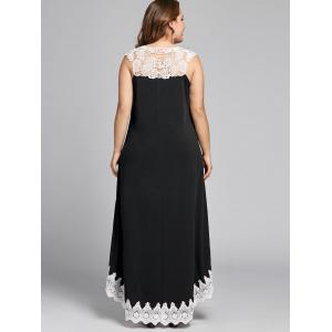 Robe taille basse sans manches grande taille -