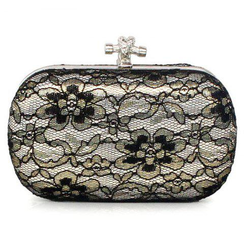 Hot Flower Lace Evening Bag with Chain