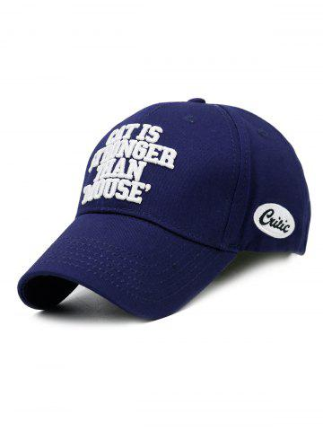 New CAT IS STRONGER THAN MOUSE Embroidery Adjustable Baseball Hat