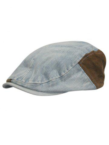 Affordable Retro Adjustable Washed Denim Newsboy Hat