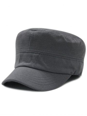 Hot Simple Line Embroidery Embellished Military Hat