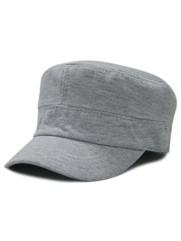 Cheap Simple Line Embroidery Embellished Military Hat
