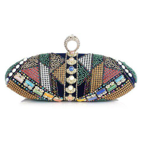 Discount Crystal Beading Faux Pearl Clutch