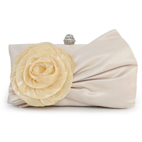 Outfit Pleated Flower Evening Bag