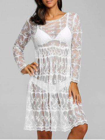 Store See Thru Lace Cover Up Dress