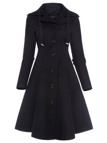 Trendy Single Breasted Skirted Coat