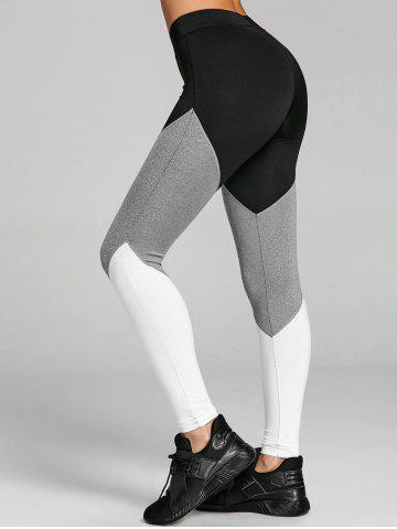Fashion Color Block High Rise Yoga Tights