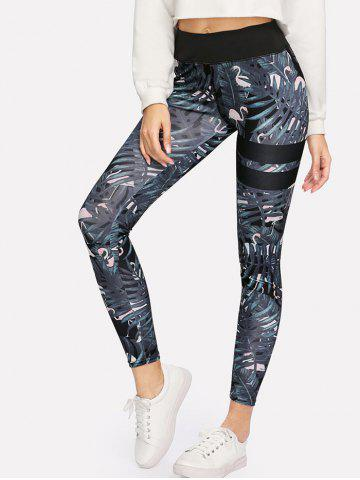 Latest Tropical Print Skinny High Waisted Yoga Leggings