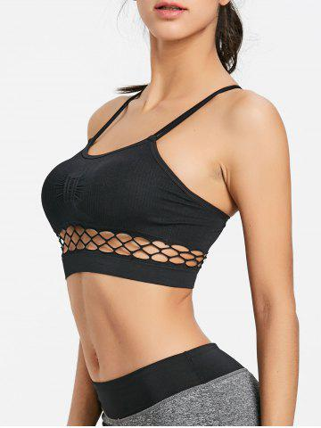 Fashion Caged Cutout Yoga Bra Top