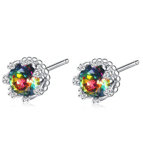 Best Rhinestone Floral Sparkly Tiny Stud Earrings