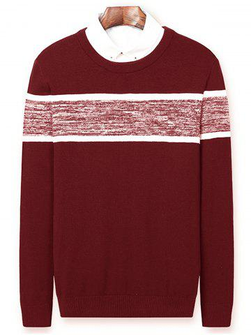 New Color Block Panel Pullover Sweater