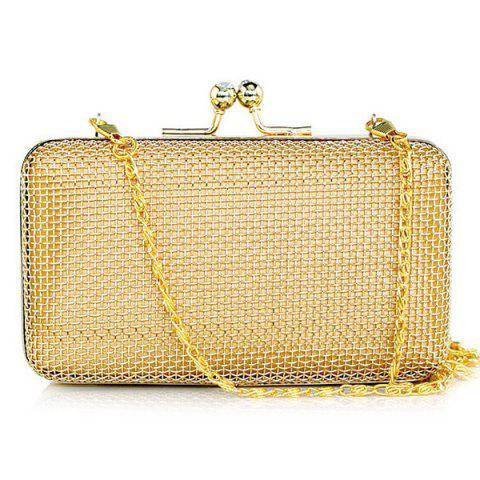 Store Chain Metal Clutch Bag