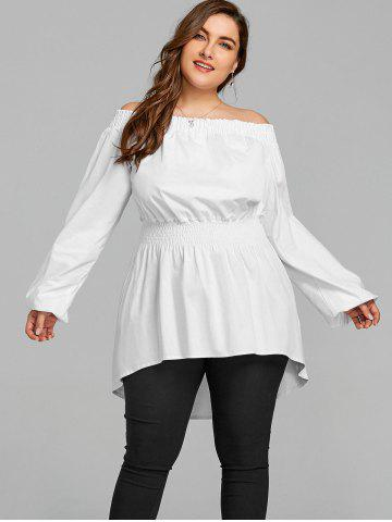 Plus Size White Peplum Blouse - Free Shipping, Discount And Cheap ...