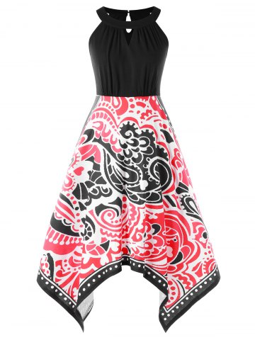 New Tribal Printed Handkerchief Dress