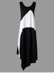 Plus Size Color Block Sleeveless Maxi Dress -