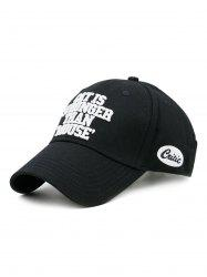 CAT IS STRONGER THAN MOUSE Embroidery Adjustable Baseball Hat -