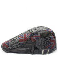 Vintage British Flag Embellished Adjustable Newsboy Hat -