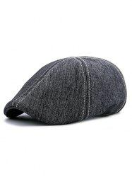 Simple Herringbone Pattern Adjustable Duckbill Hat -