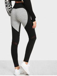 High Waist Color Block Yoga Leggings -
