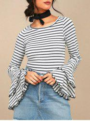 Striped Bell Sleeve Tee -