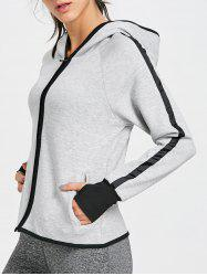 Zip Up Hooded Jacket for Sports -